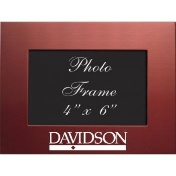 Davidson College - 4x6 Brushed Metal Picture Frame - Red
