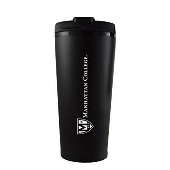 Manhattan College-16 oz. Travel Mug Tumbler-Black