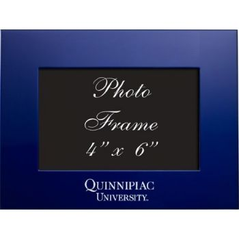 Quinnipiac University - 4x6 Brushed Metal Picture Frame - Blue