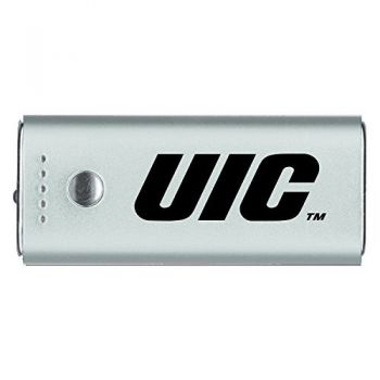 University of Illinois at Chicago-Portable Cell Phone 5200 mAh Power Bank Charger -Silver