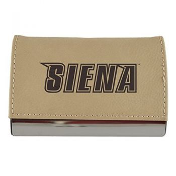 Velour Business Cardholder-Siena College-Tan