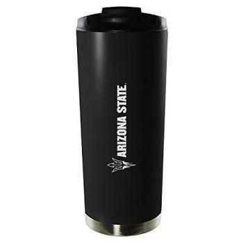 ASU Sun Devils-16oz. Stainless Steel Vacuum Insulated Travel Mug Tumbler-Black