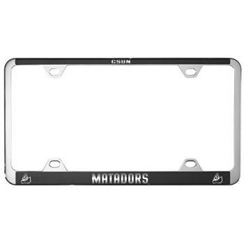California State University, Northridge -Metal License Plate Frame-Black