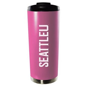 Southeast Missouri State University-16oz. Stainless Steel Vacuum Insulated Travel Mug Tumbler-Pink