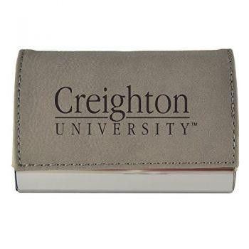 Velour Business Cardholder-Creighton University-Grey