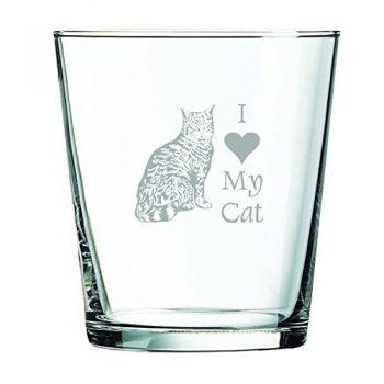 13 oz Cocktail Glass  - I Love My Cat