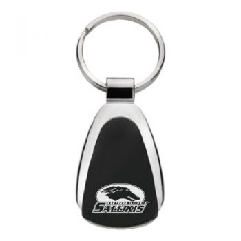 Southern Illinois University - Teardrop Keychain - Black