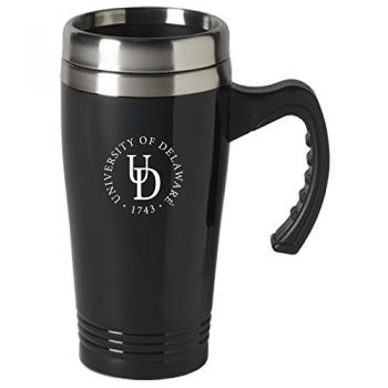 University of Delaware-16 oz. Stainless Steel Mug-Black