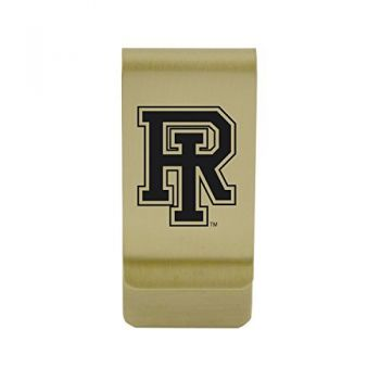 Robert Morris University|Money Clip with Contemporary Metals Finish|Solid Brass|High Tension Clip to Securely Hold Cash, Cards and ID's|Silver