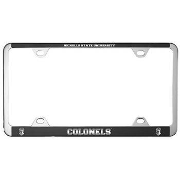 Nicholls State University -Metal License Plate Frame-Black