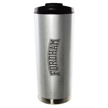 Fordham University-16oz. Stainless Steel Vacuum Insulated Travel Mug Tumbler-Silver