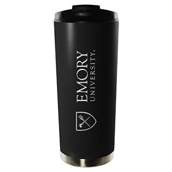 Emory University-16oz. Stainless Steel Vacuum Insulated Travel Mug Tumbler-Black