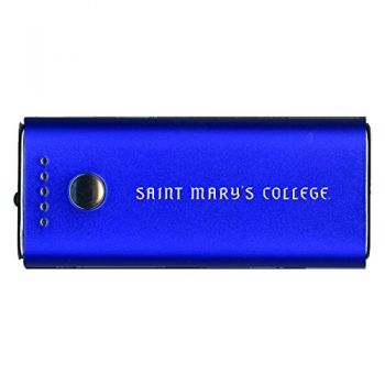 Saint Mary's College of California -Portable Cell Phone 5200 mAh Power Bank Charger -Blue