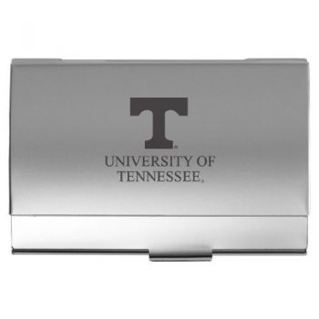 University of Tennessee - Two-Tone Business Card Holder - Silver