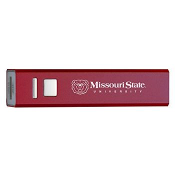 Missouri State University - Portable Cell Phone 2600 mAh Power Bank Charger - Burgundy