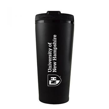 University of New Hampshire -16 oz. Travel Mug Tumbler-Black