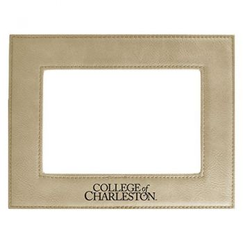 College of Charleston-Velour Picture Frame 4x6-Tan