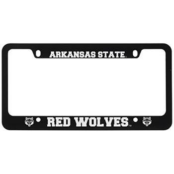 Arkansas State University -Metal License Plate Frame-Black