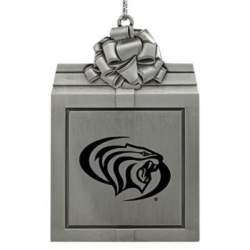 University of The Pacific -Pewter Christmas Holiday Present Ornament-Silver