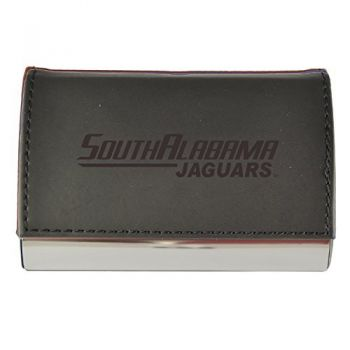 Velour Business Cardholder-University of South Alabama-Black