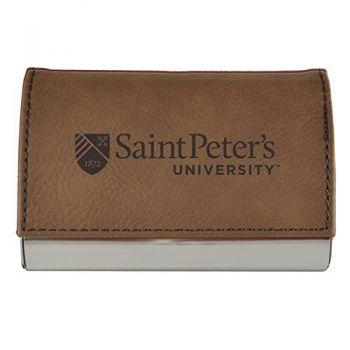 Velour Business Cardholder-Saint Peter's University-Brown