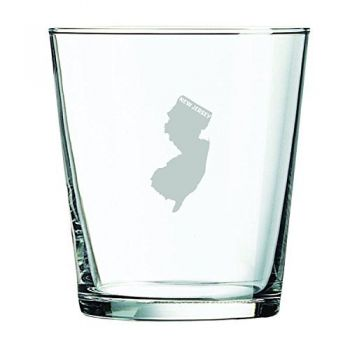 13 oz Cocktail Glass - New Jersey State Outline - New Jersey State Outline