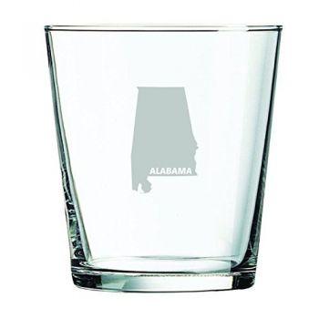13 oz Cocktail Glass - Alabama State Outline - Alabama State Outline