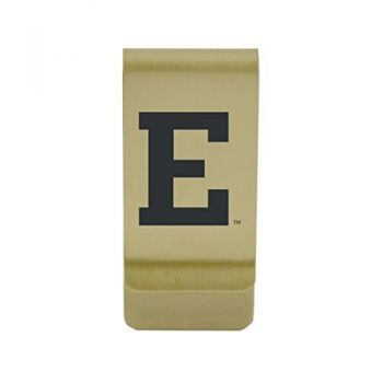 Eastern Illinois University|Money Clip with Contemporary Metals Finish|Solid Brass|High Tension Clip to Securely Hold Cash, Cards and ID's|Silver