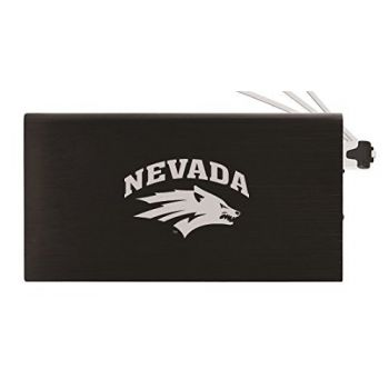 8000 mAh Portable Cell Phone Charger-University of Nevada -Black