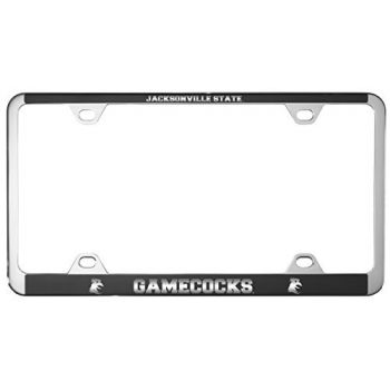 Jacksonville State University-Metal License Plate Frame-Black