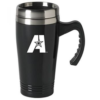 Louisiana State University of Alexandria-16 oz. Stainless Steel Mug-Black