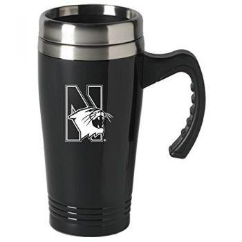 Northwestern University-16 oz. Stainless Steel Mug-Black
