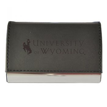 Velour Business Cardholder-University of Wyoming -Black
