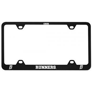 California State University, Bakersfield-Metal License Plate Frame-Black