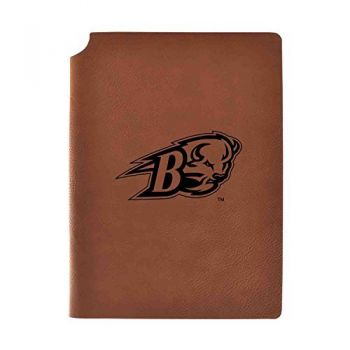 Bucknell University Velour Journal with Pen Holder|Carbon Etched|Officially Licensed Collegiate Journal|
