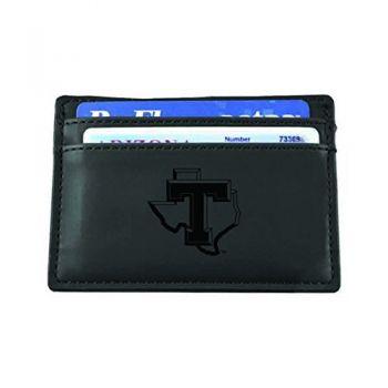 Tarleton State University-European Money Clip Wallet-Black