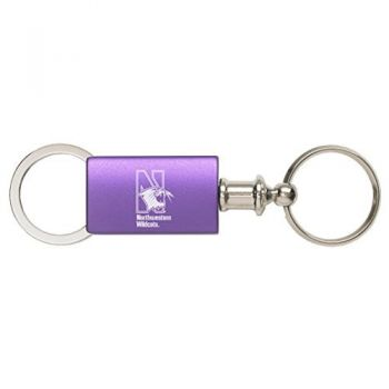 Northwestern University - Anodized Aluminum Valet Key Tag - Purple