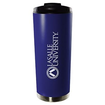 La Salle University-16oz. Stainless Steel Vacuum Insulated Travel Mug Tumbler-Blue