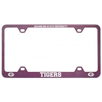 Grambling State University-Metal License Plate Frame-Pink