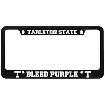 Tarleton State University -Metal License Plate Frame-Black