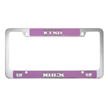 East Tennessee State University -Metal License Plate Frame-Pink