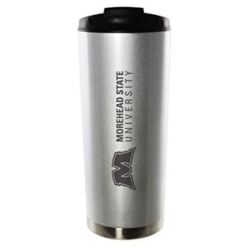 Morehead State University-16oz. Stainless Steel Vacuum Insulated Travel Mug Tumbler-Silver