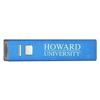 Howard University - Portable Cell Phone 2600 mAh Power Bank Charger - Blue