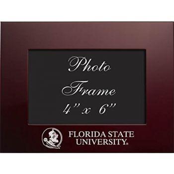 Florida State University - 4x6 Brushed Metal Picture Frame - Burgandy