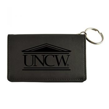 Velour ID Holder-University of North Carolina Wilmington-Black