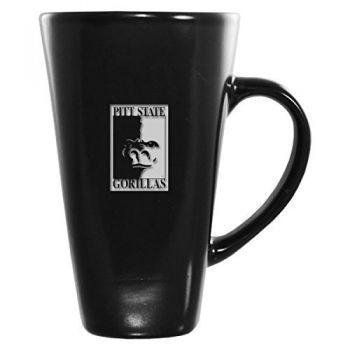 Pittsburg State University -16 oz. Tall Ceramic Coffee Mug-Black