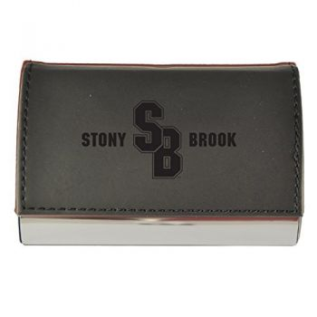 Velour Business Cardholder-Stony Brook University-Black