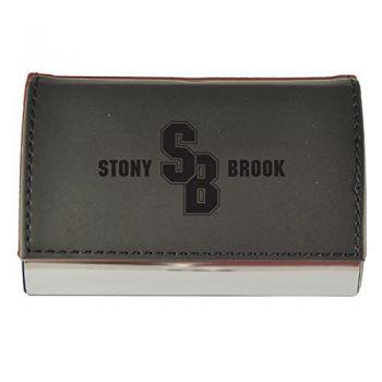 Velour Business Cardholder-Stony Brook University-Black