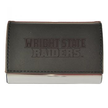 Velour Business Cardholder-Wright State university-Black