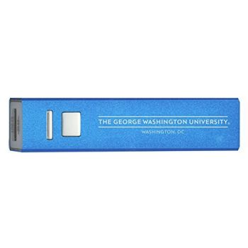 The George Washington University - Portable Cell Phone 2600 mAh Power Bank Charger - Blue